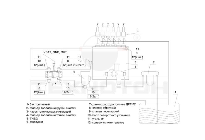 Дифференциальная схема установки DFM